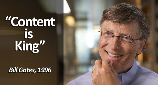 Content is King Bill Gates Ross Kingsland